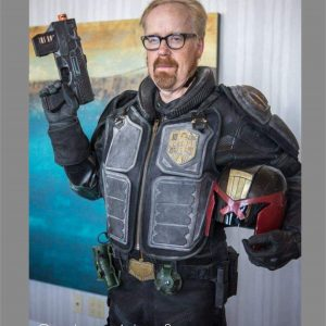 Adam Savage Judge Dredd Cosplay