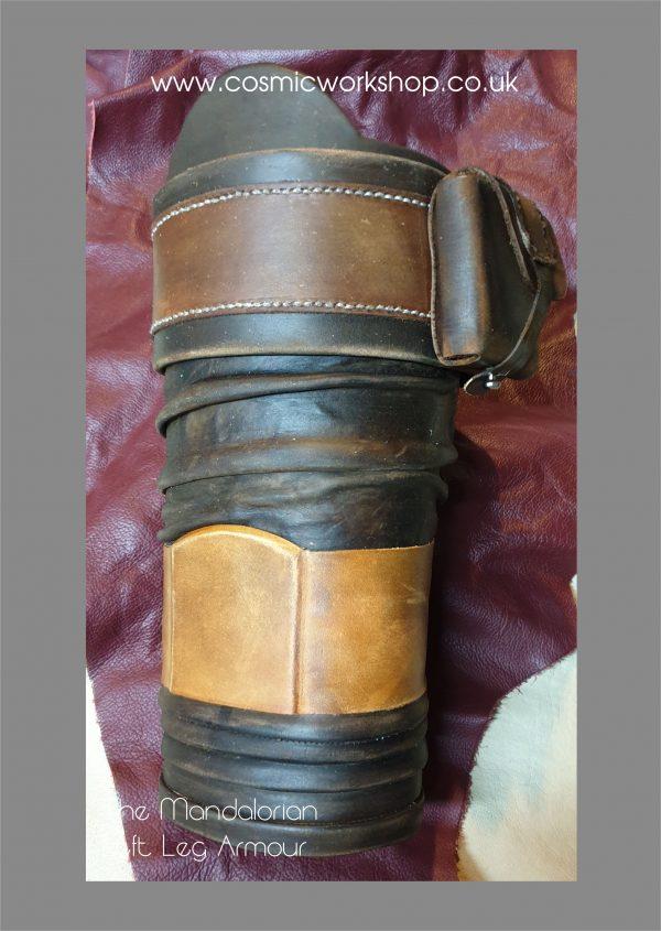 the mandalorian leg armour