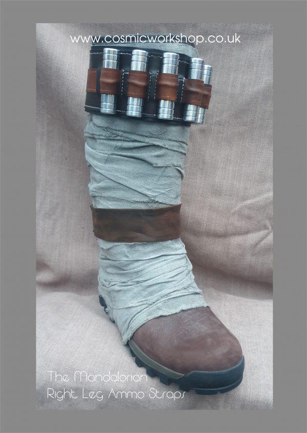 the mandalorian leg ammo strap